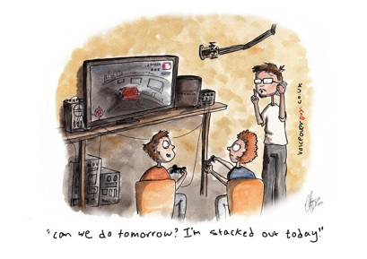 Voiceover Cartoon - Busy Day