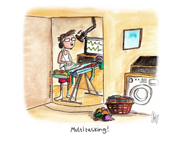 Voiceover Cartoon - Multitasking