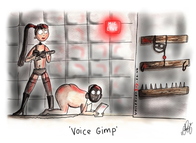 Voiceover Cartoon - voice gimp
